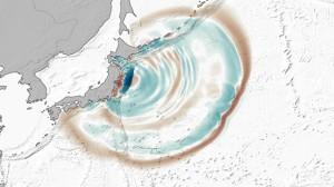 Гигантские волны значительно изменили дно у побережья Японии