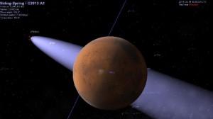 У Марса в 2014 году может быть свидание с крупной кометой