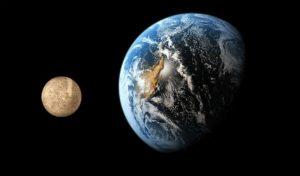 Меркурий по сравнению с Землей
